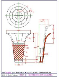 Cad Drawing of Ice cream cone