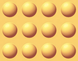Ball shaped wafer biscuit sheet